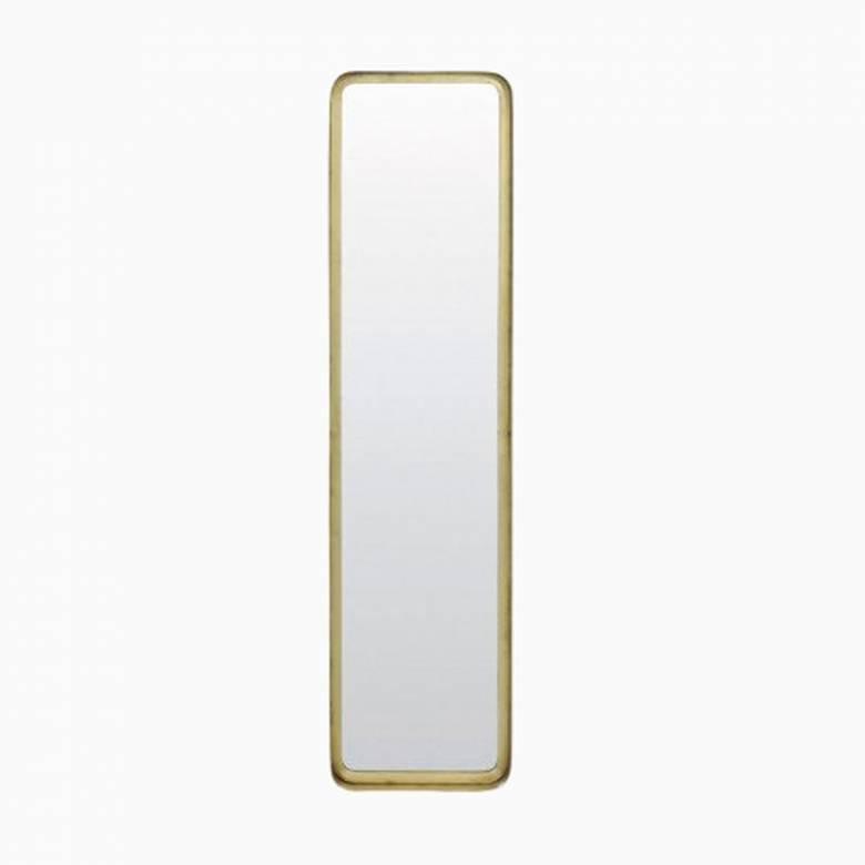 Gold Rectangular Annis Mirror 20x4.5x80cm