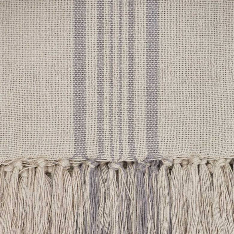 Antibes Grey Stripe Throw - Made From Recycled Plastic Bottles