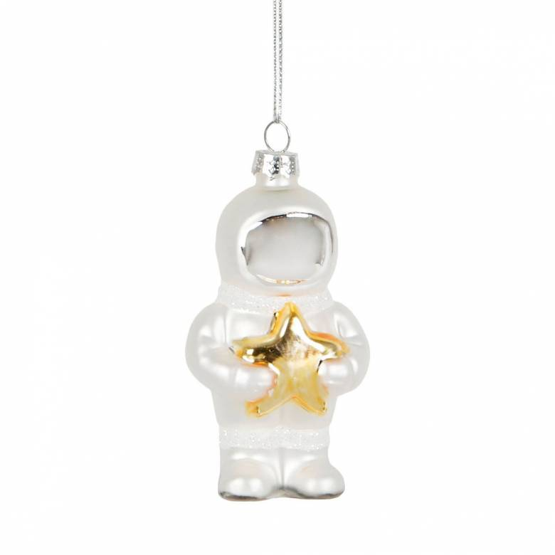 Astronaut Glass Christmas Decoration