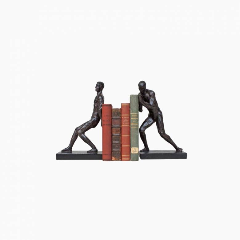 Athletes Sculptural Bookends