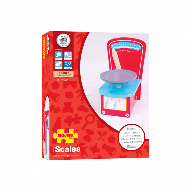 Wooden Kitchen Scales Toy 3+