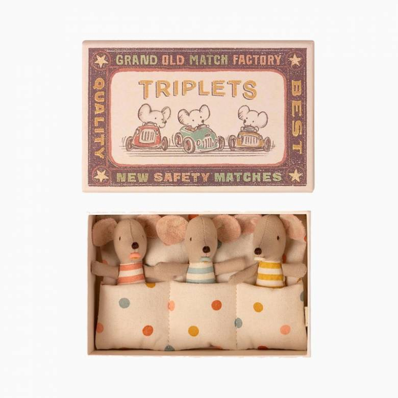 Baby Mice Triplets In Matchbox By Maileg 0+
