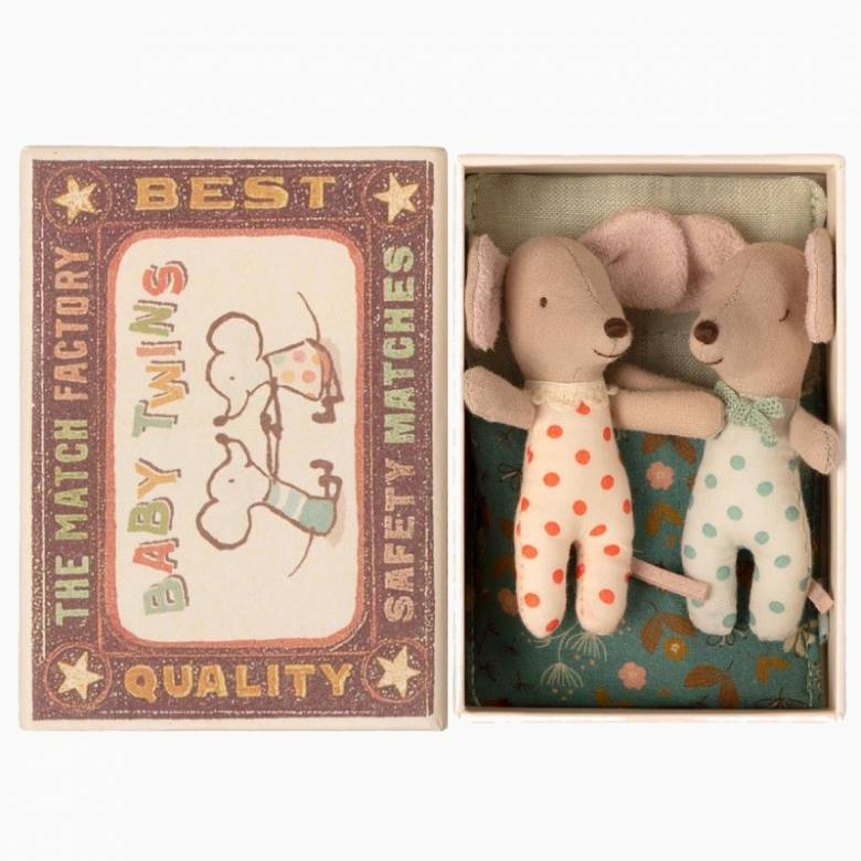 Baby Mice Twins In Matchbox By Maileg 0+