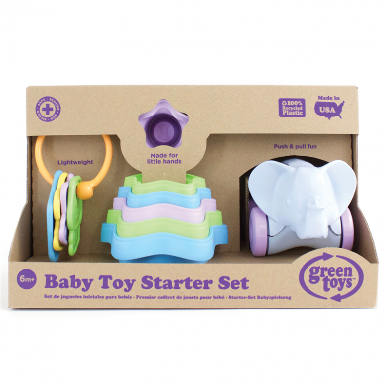 Baby Toy Starter Set - Green Toys Recycled Plastic 3+