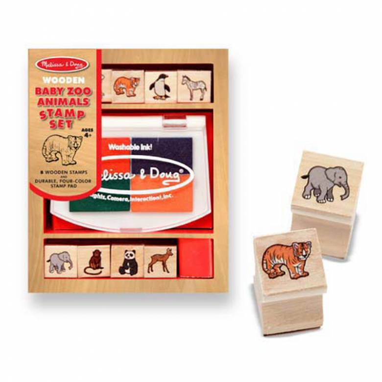 Baby Zoo Animals -  Small Stamp Set By Melissa & Doug