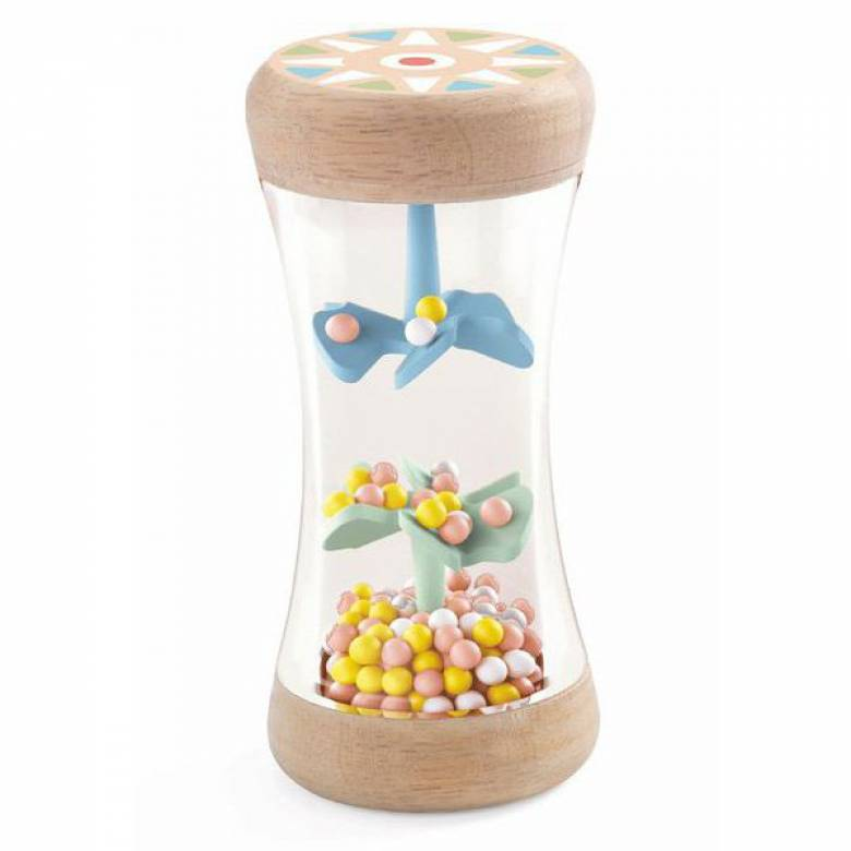 BabyPlui Wooden Rattle By Djeco 0+