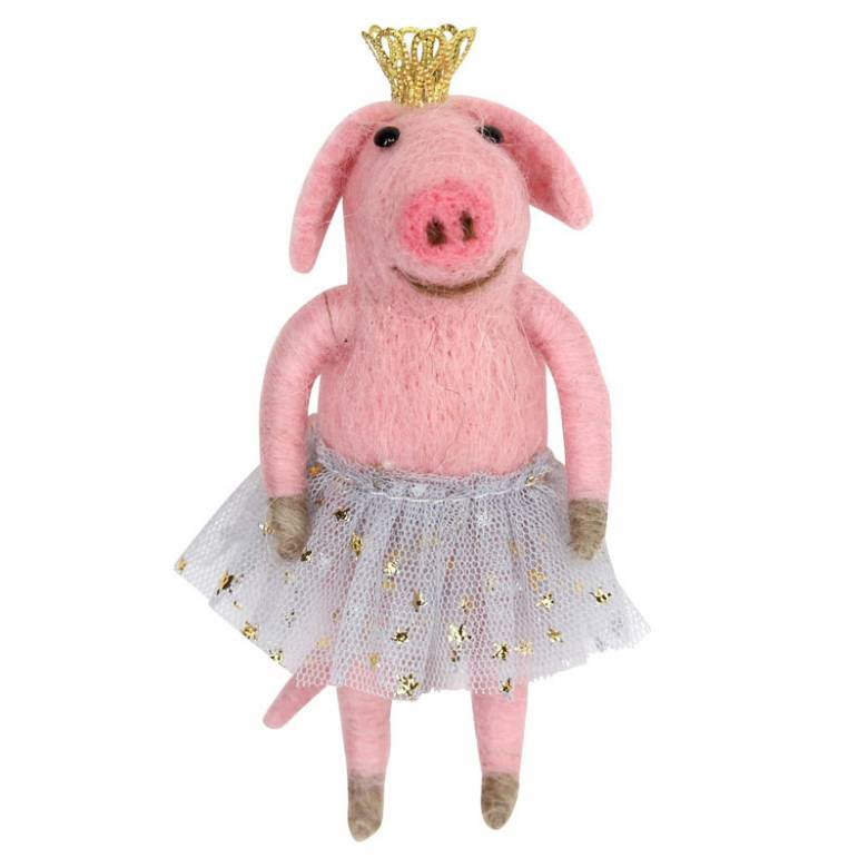 Ballerina Pig Christmas Decoration