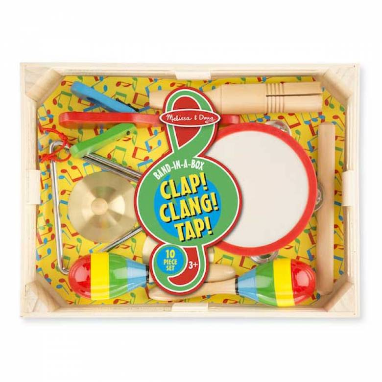 Band In A Box - Clap! Clang! Tap! By Melissa & Doug 3+