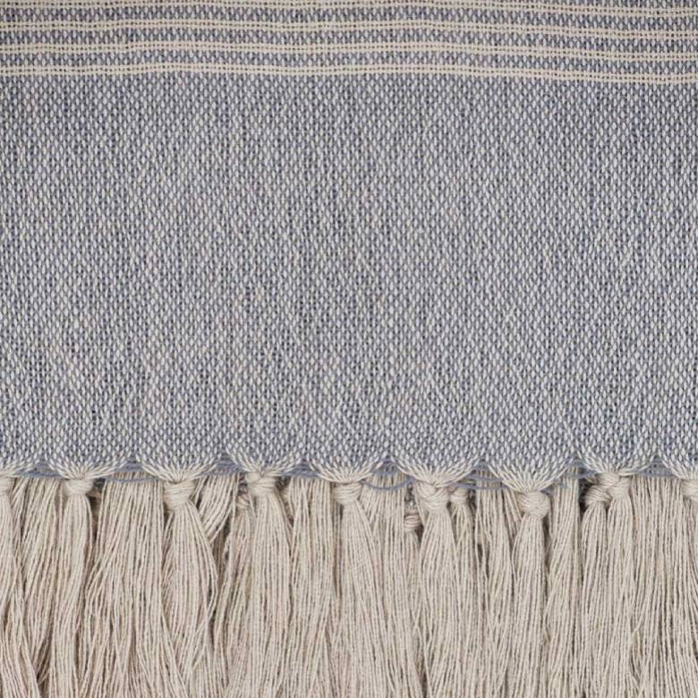 Bandol Throw In Blue - Made From Recycled Bottles