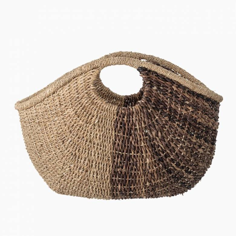 Bankuan Grass Curved Storage Basket With Handles