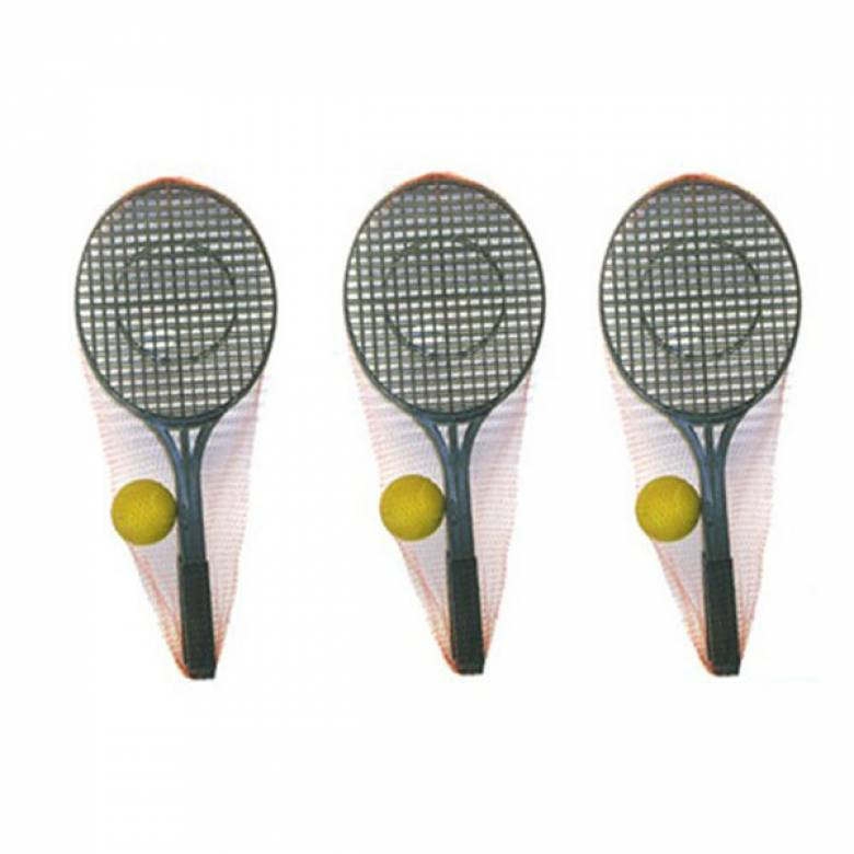 Two Plastic Tennis Raquets With Soft Ball Set