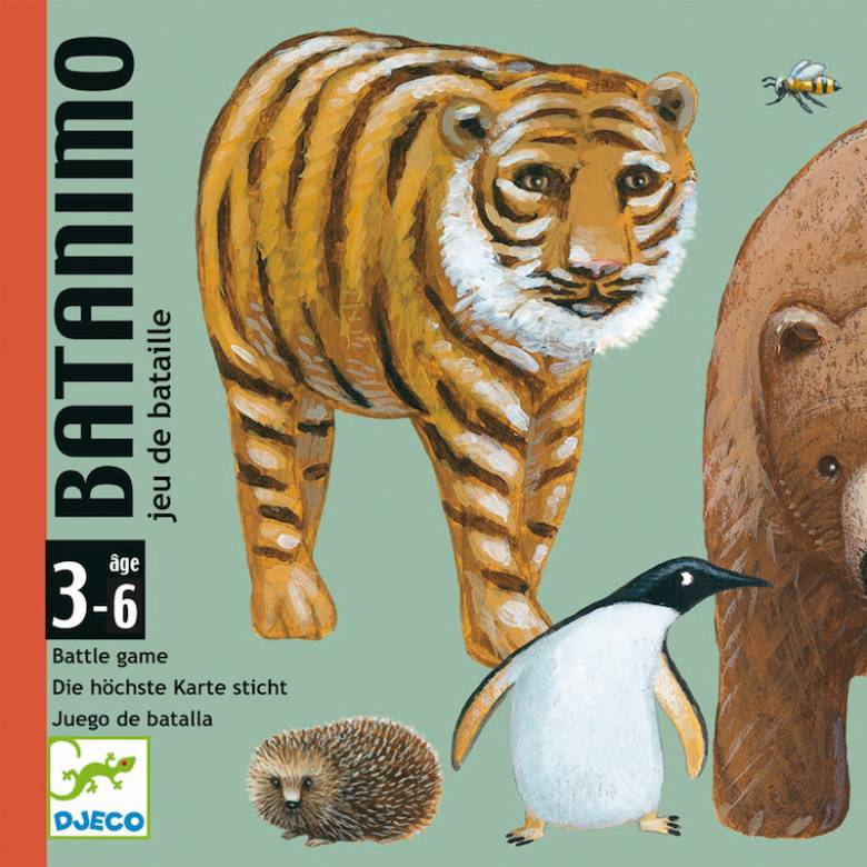 Batanimo Card Game - Battle Animal Game 3-7yrs
