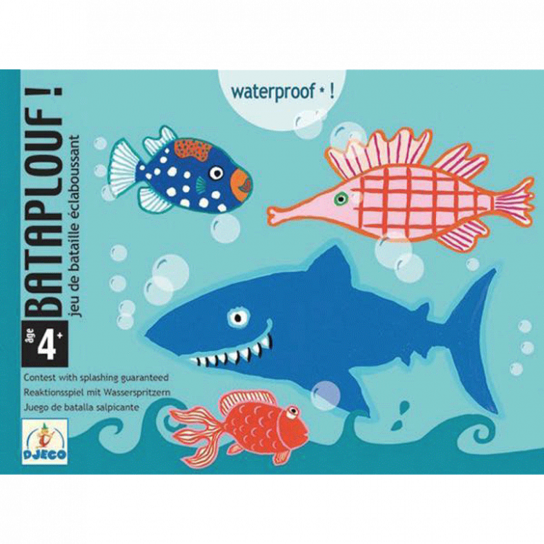 Bataplouf Card Game For The Bath By Djeco 4-8yrs