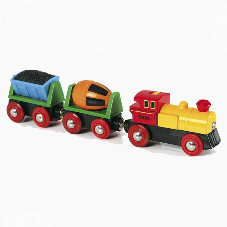 Battery Operated Action Train BRIO Wooden Railway Age 3+