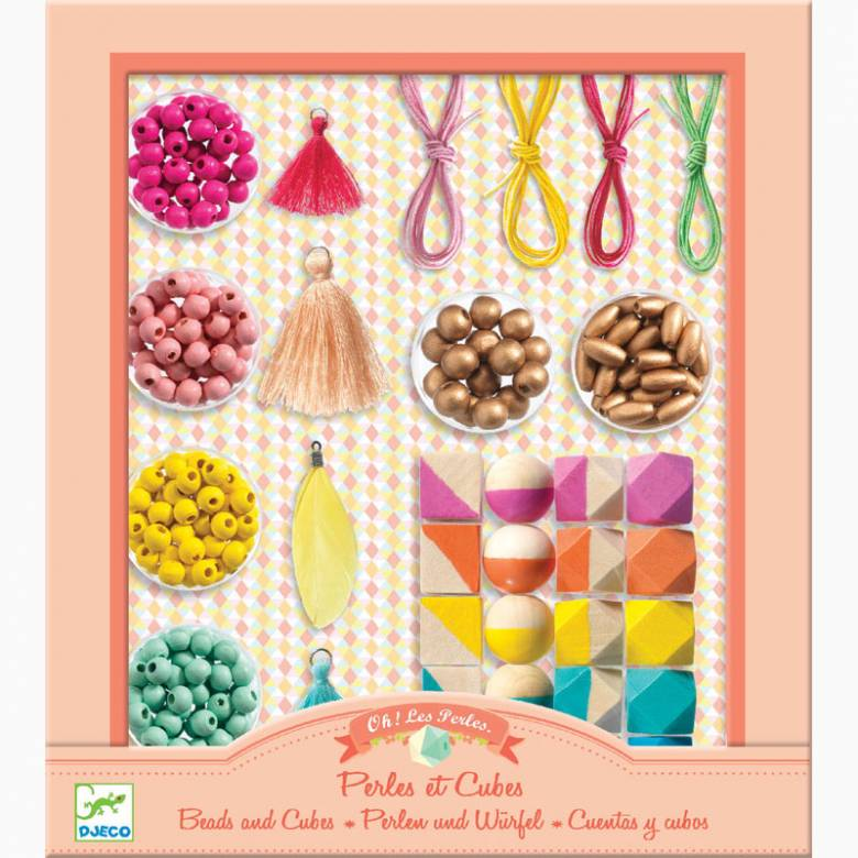 Beads And Cubes Jewellery Kit By Djeco 8+