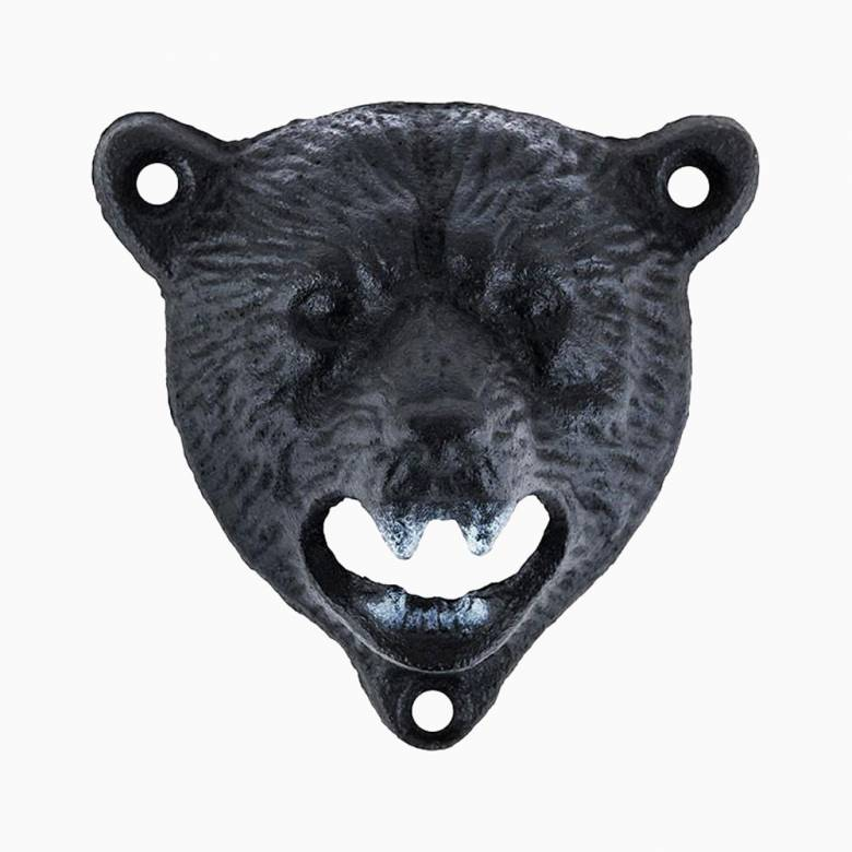 Wall Mounted Metal Bear Head Bottle Opener