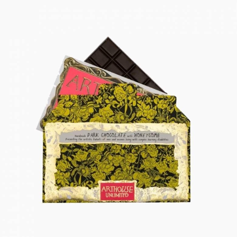Bee Free Dark Chocolate bar Honeycomb