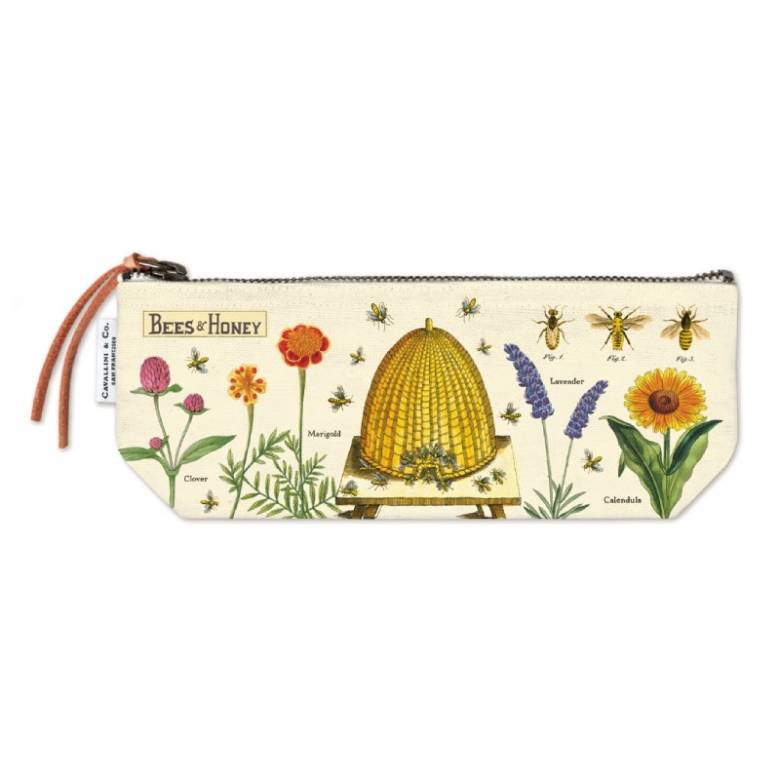 Bees & Honey Cotton Mini Pouch Bag By Cavallini
