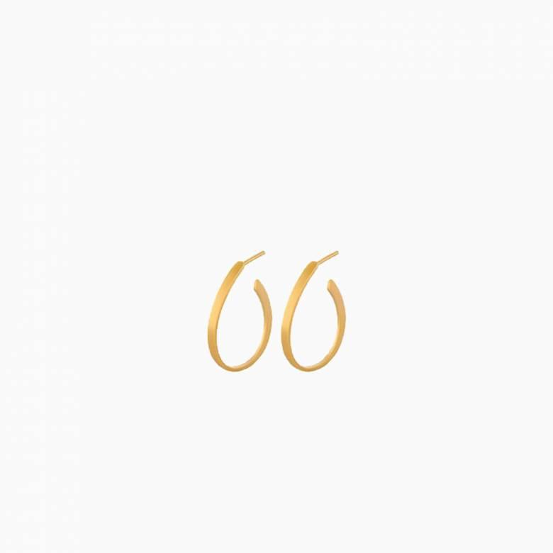 Berlin Creole Hoop Earrings In Gold By Pernille Corydon