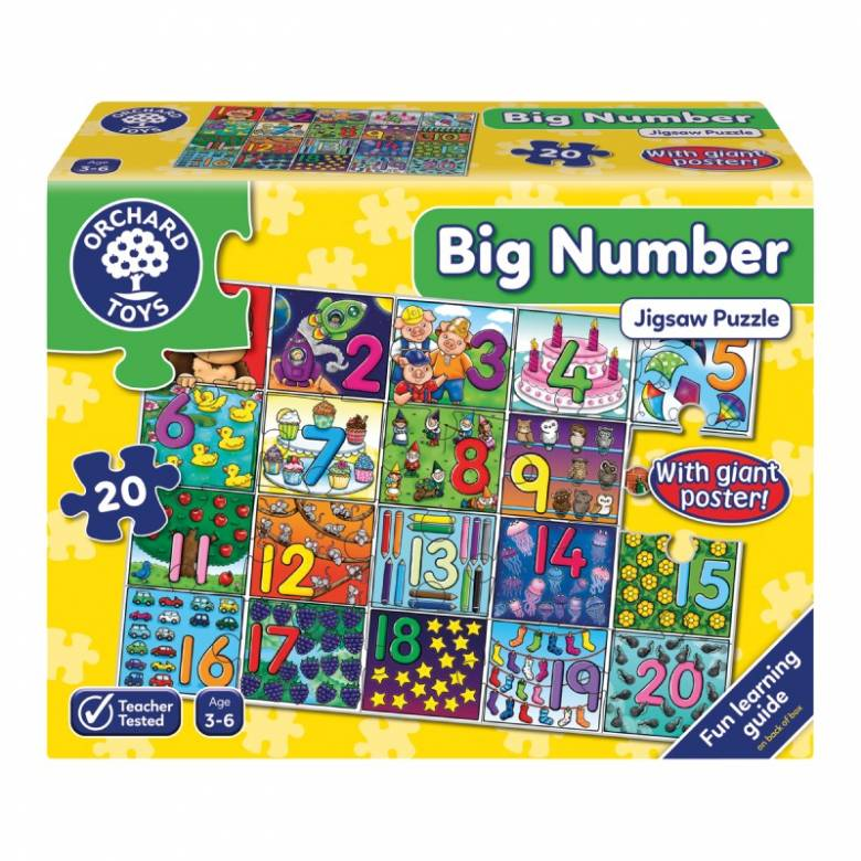 Big Number - 20 Piece Jigsaw Puzzle By Orchard Toys 3+