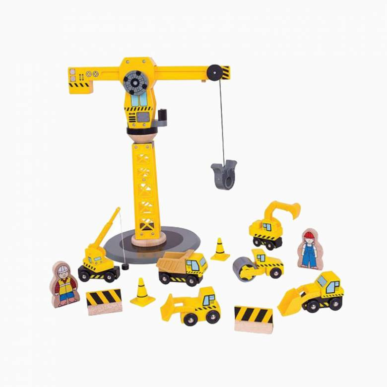 Big Yellow Crane Construction Set by Bigjigs 3+