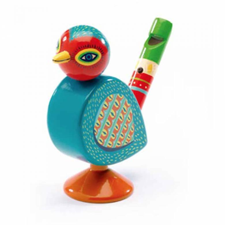 Animambo Decorated Wooden Bird Whistle