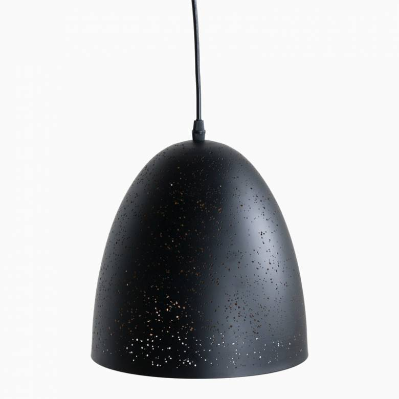 Black And Gold Pendant Light With Perforations