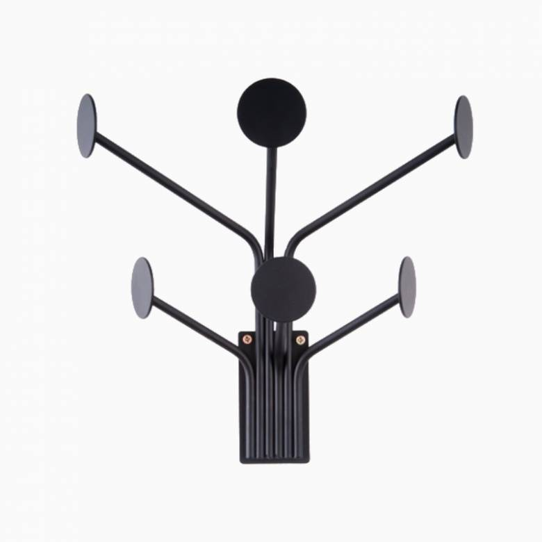 Black Dots Wall Mounting Coat Hook Rack