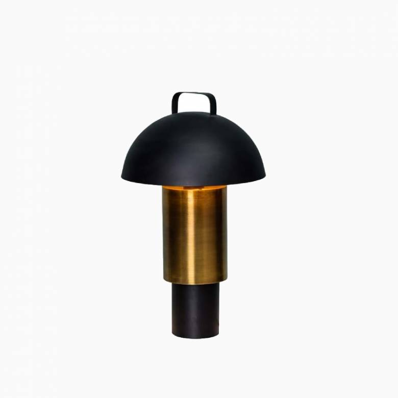 Black & Gold Metal Layered Table Lamp H: 55cm