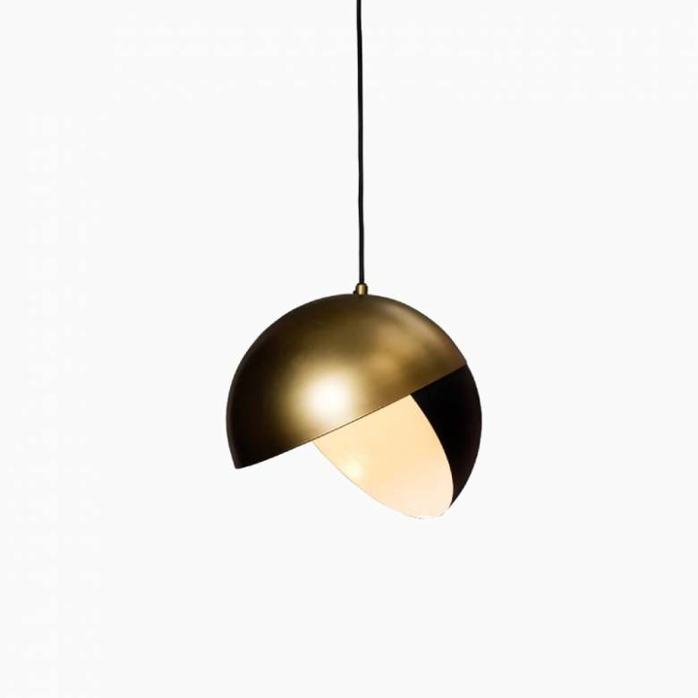 Black & Gold Pacman Pendant Light