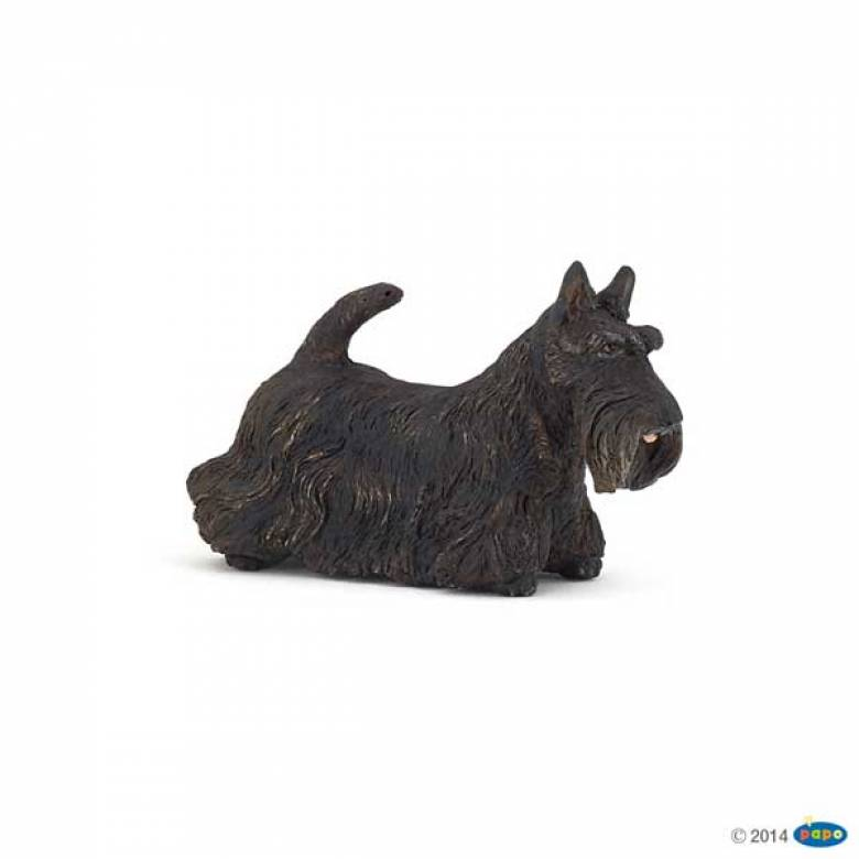 Black Scottish Terrier Dog PAPO ANIMAL