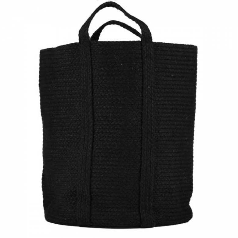 Slouchy Basket BLACK 42x47cm
