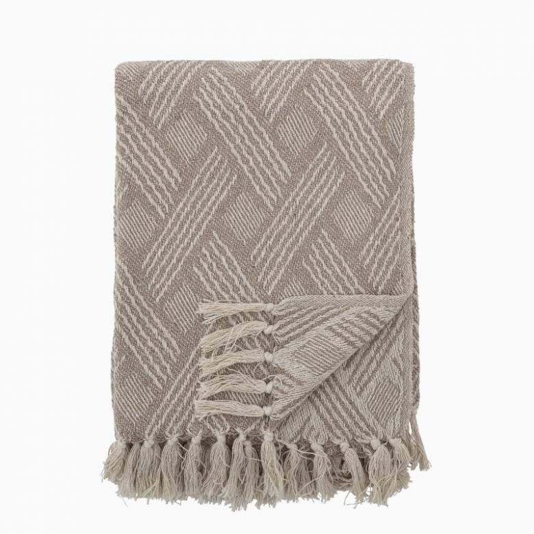 Blanket with Woven Pattern Made From Recycled Cotton