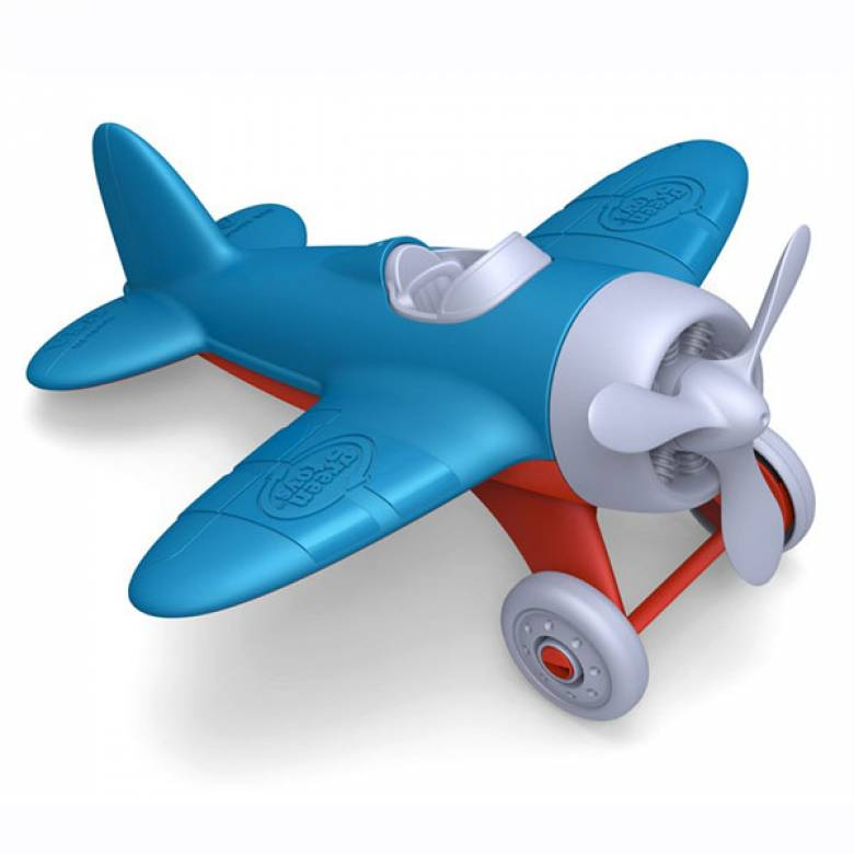 Blue Airplane By Green Toys - Recycled Plastic 1+