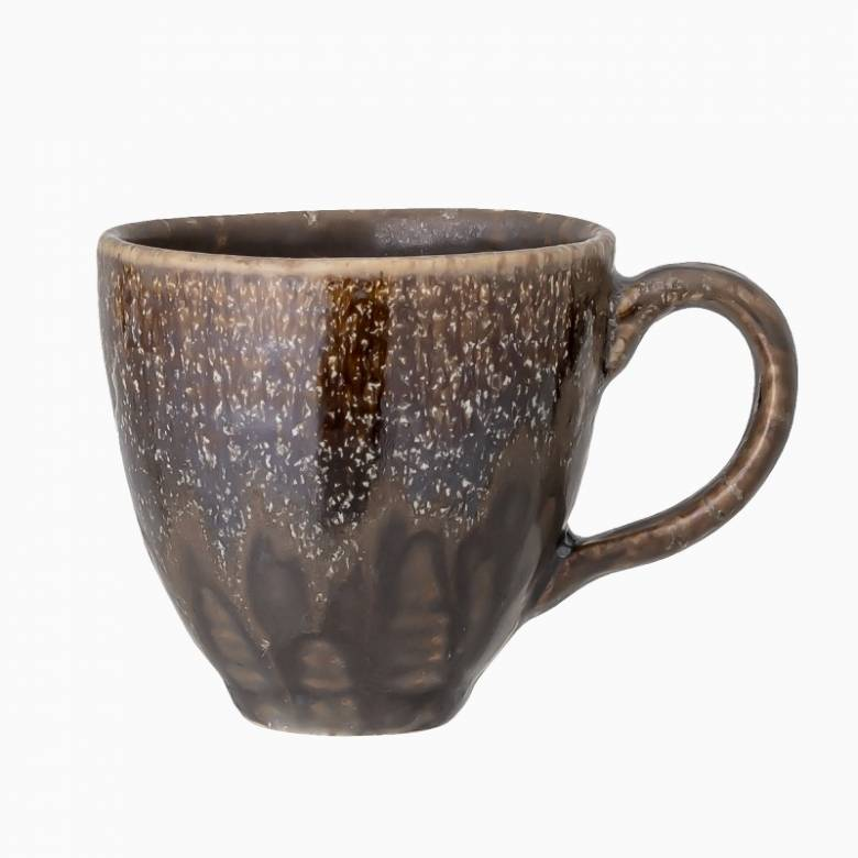 Blue & Brown Stoneware Espresso Cup