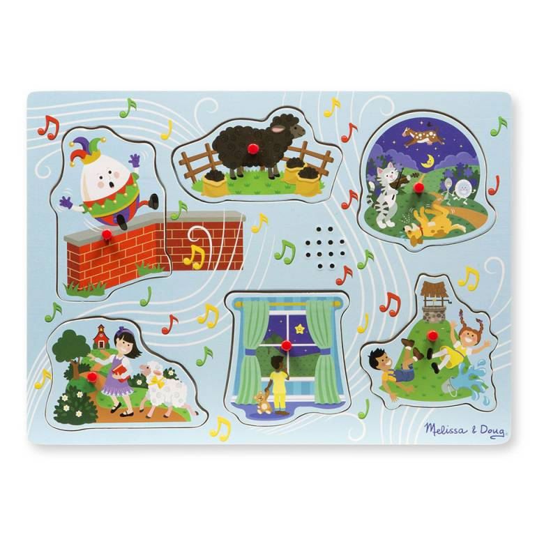 Blue Sing-Along Nursery Rhymes Sound Puzzle By Melissa & Doug 2+