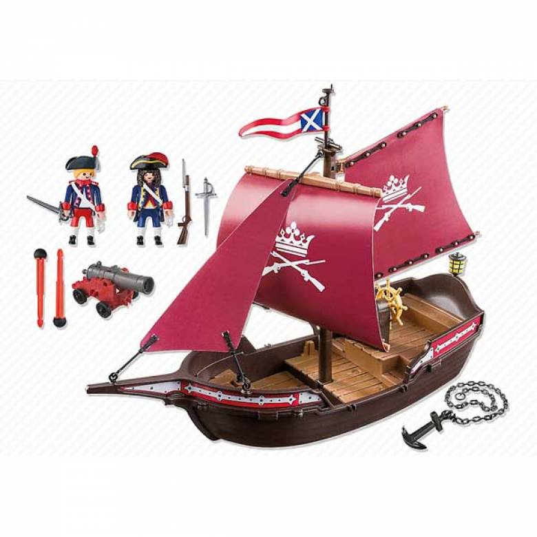 Pirate Soldiers' Patrol Cannon Boat Playmobil 6681