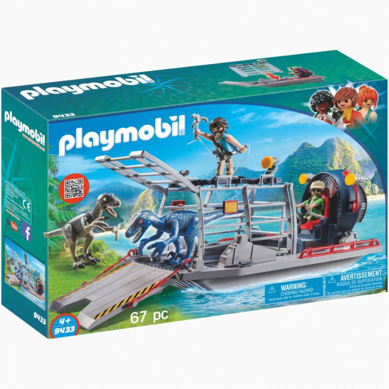 Enemy Airboat With Raptors Playmobil 9433