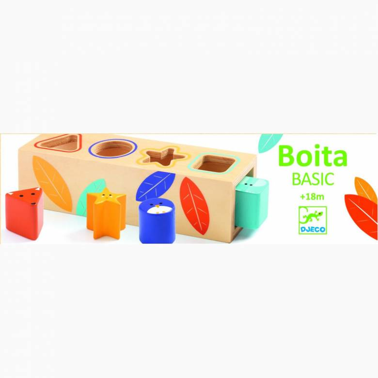 Boita Basic Wooden Shape Sorter Toy 18m+