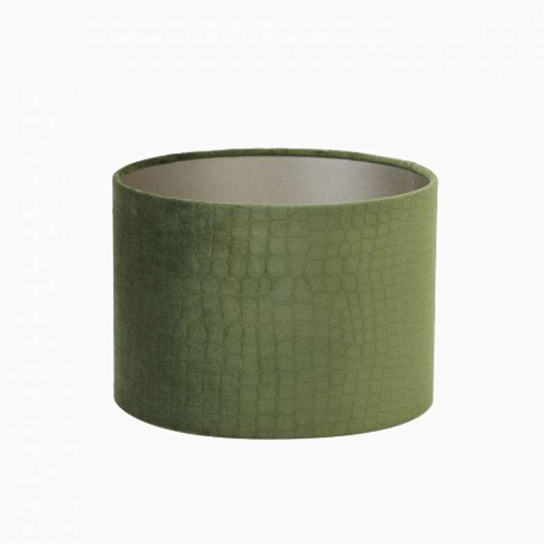 Green Crocodile Velvet  Light Shade 30cm