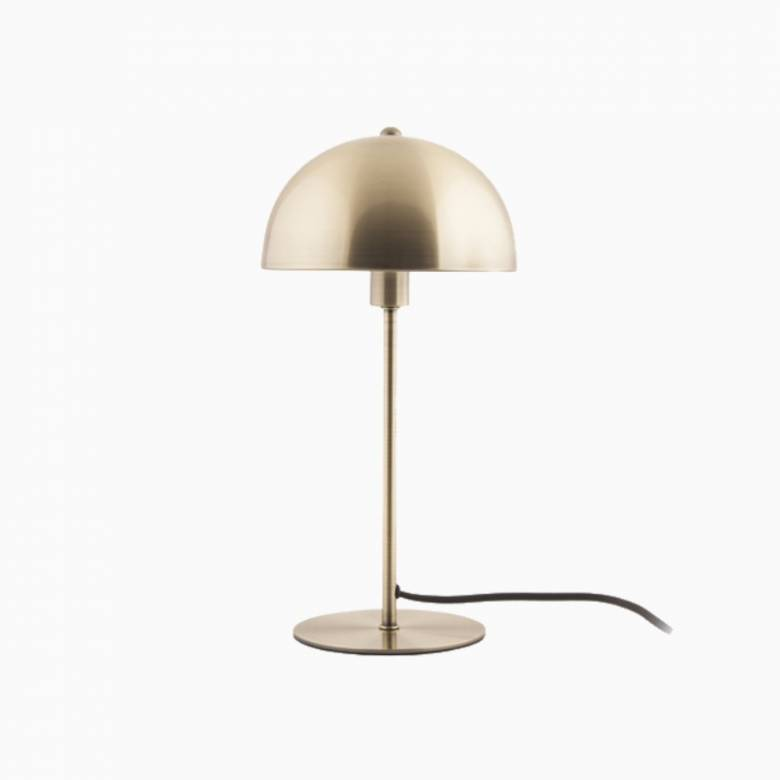 Bonnet Metal Table Lamp In Antique Gold