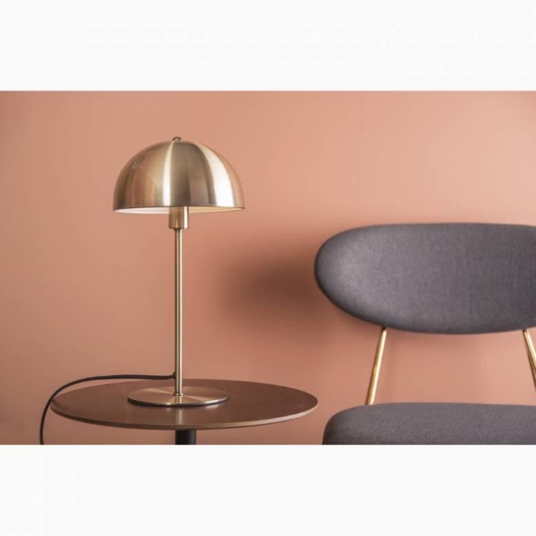 Bonnet Metal Table Lamp In Antique Gold