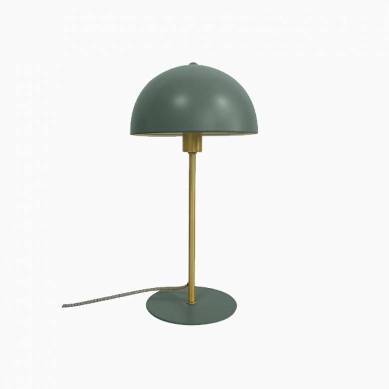 Bonnet Metal Table Lamp In Dark Green