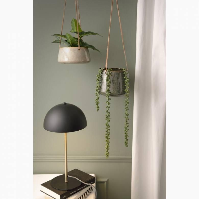 Bonnet Metal Table Lamp In Matt Black