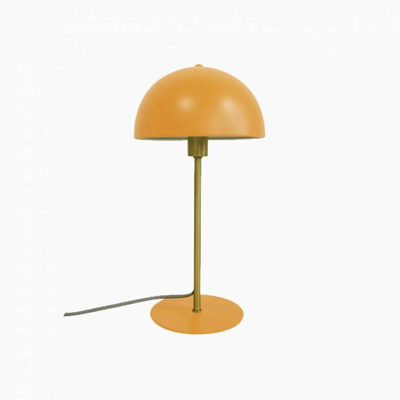Bonnet Metal Table Lamp In Mustard Yellow