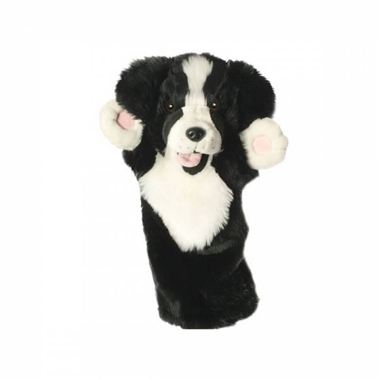 BORDER COLLIE DOG Long Sleeved Glove Puppet