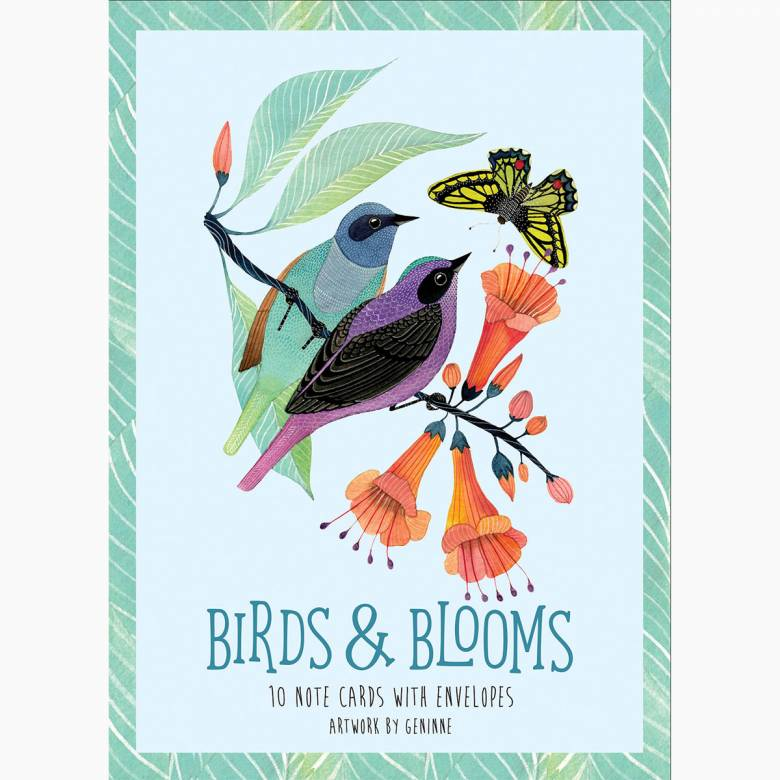 Birds & Blooms - Boxed Set Of 10 Notecards WIth Envelopes