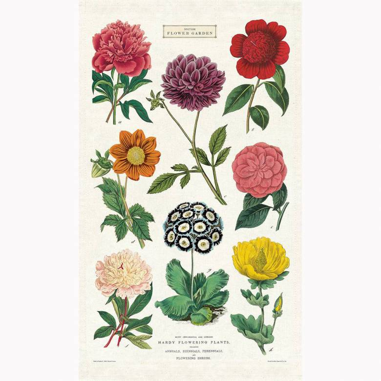 Botanica Garden Flowers Cotton Tea Towel With Gift Bag