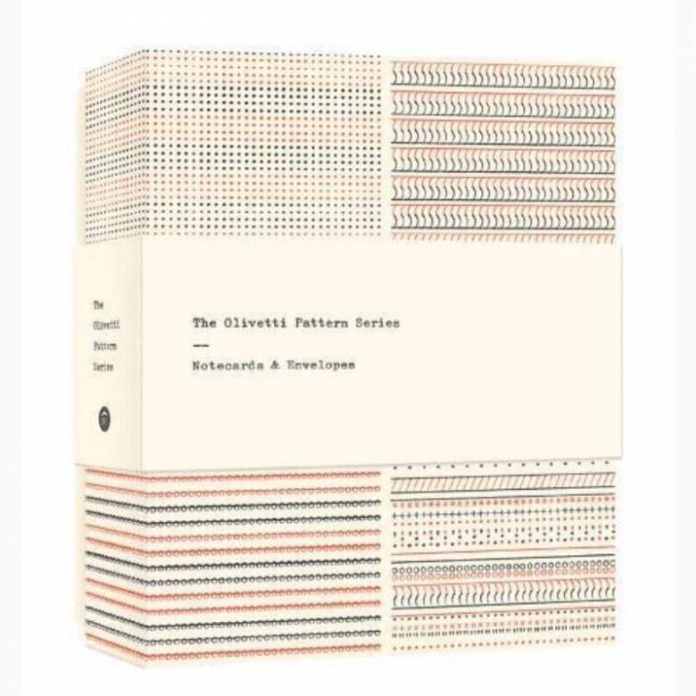 Box Of 12 Olivetti Pattern Series Notecards