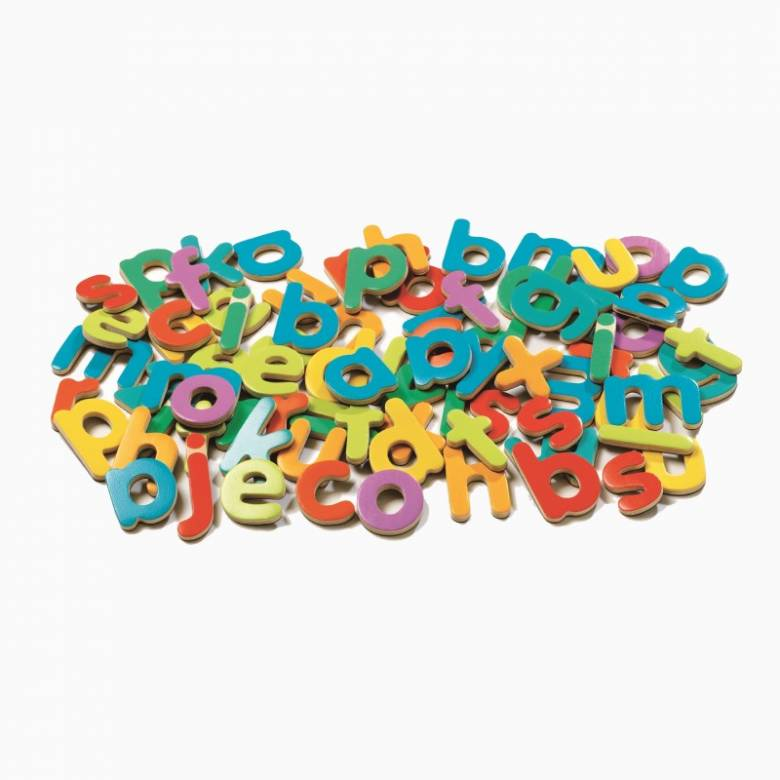 Box Of 83 Magnetic Lower Case Letters By Djeco 4+